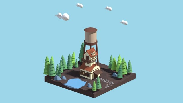 Cabin in the woods 3D Model