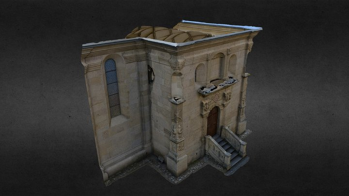 Lazzo Chapel_with interior (test3) 3D Model