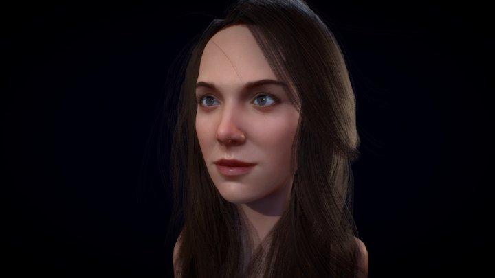 Alison Brie - Likeness & Hair Practice 3D Model