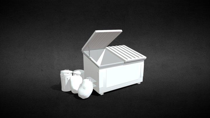 Bingo Bin Trash Cans V1 3D Model