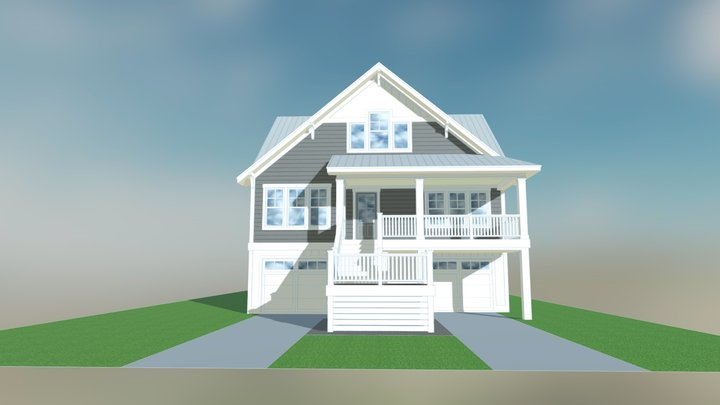 Currituck Cottage 3D Model