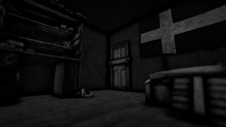 Teenager Fallout Bedroom 3D Model