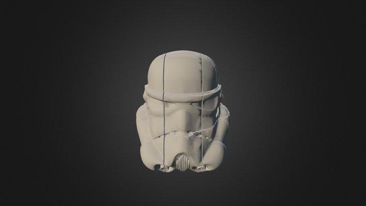 Storm Trooper Rubiks Tinkercad First Go 3D Model