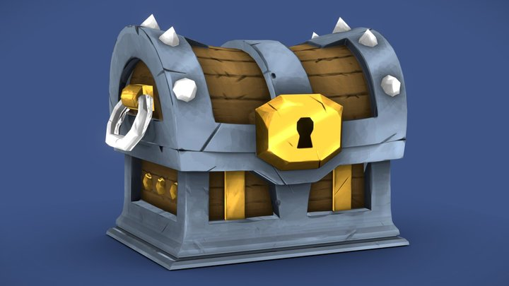 Pirate-Chest Hand Painted 3D Model
