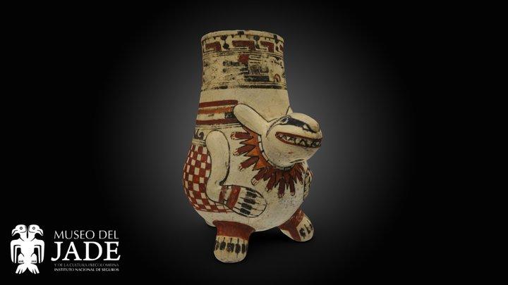 Vasija trípode (Conejo) 3D Model
