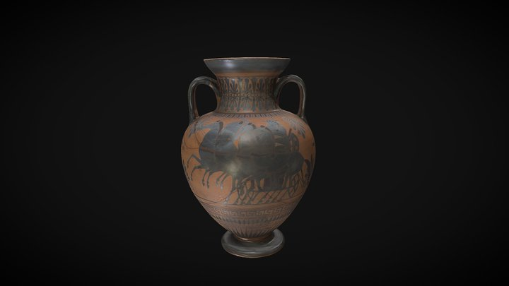 Greek amphora - World Museum, Liverpool 3D Model