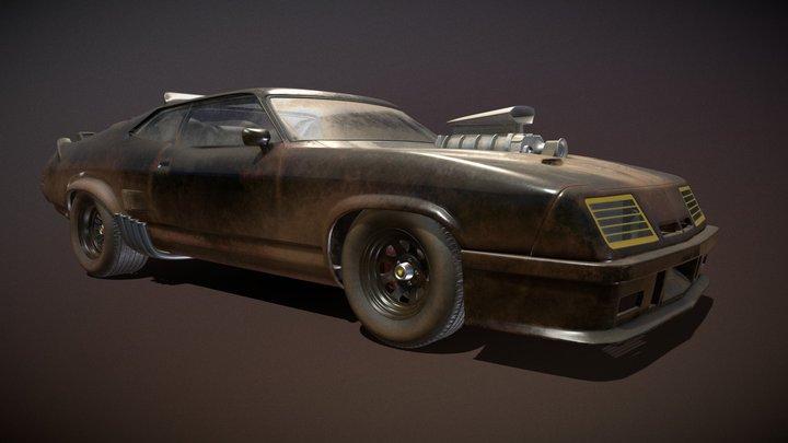 "1973 Ford Falcon XB ""Mad Max Interceptor"" 3D Model"