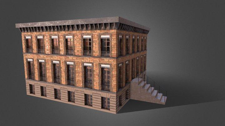 Modular Building 3D Model