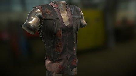 Daryl Dixon jacket 3D Model