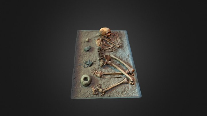 Funerary context recreation, Central Chile 3D Model