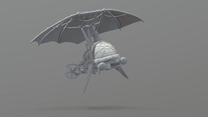 Steampunk Ship 3D Model