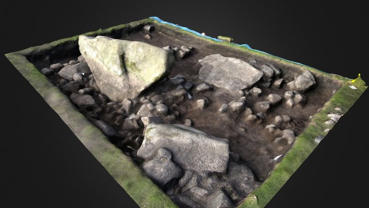 Reading The Hurlers - Standing Stone - Trench F 3D Model