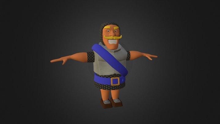 Knight - Clash Royale 3D Model