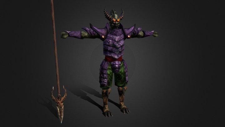 Demon Brother 3D Model