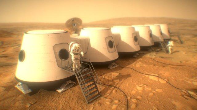 """""""Mars One"""" Mission - Base 3D Model"""