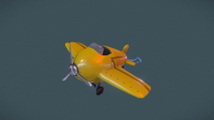 Cartoon Plane 3D Model
