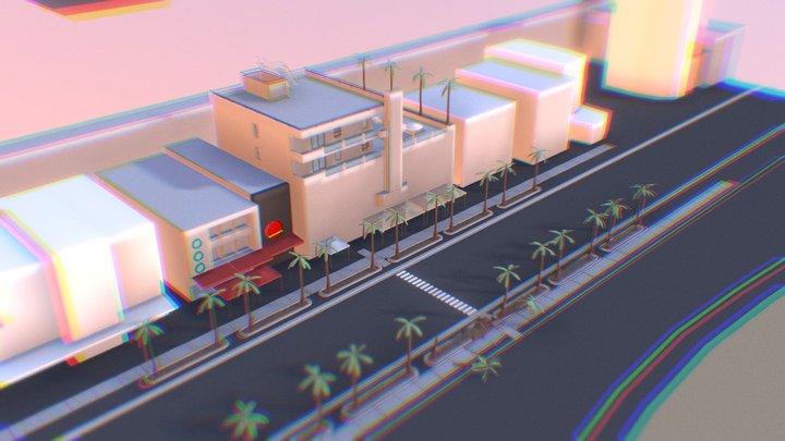 Miami Ocean Drive (WIP) 3D Model