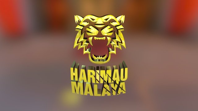 Harimau Malaya 3D 3D Model