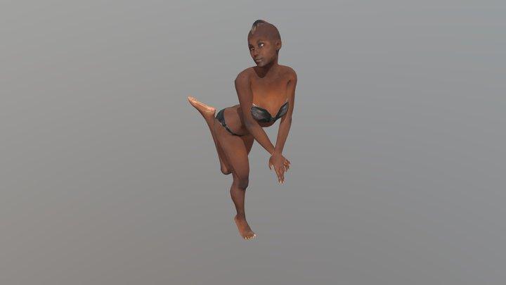 Female Dance Pose 3D Model