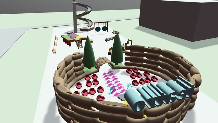 Zona SCIVOLI e TEATRO - Scuola G. Marconi 3D Model