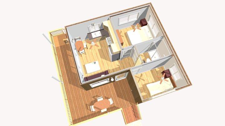 E-20 Cory Langham NEW PLAN 11 FLOOR VIEW 3D Model