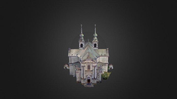 Kościół wykonany przez CTI metodą skanowania las 3D Model