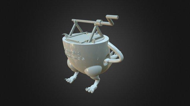 Dragon teacup (Lie) 3D Model