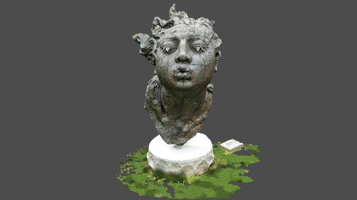 """""""Cabeza de Mujer,"""" bronze sculpture 3D Model"""