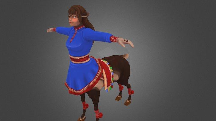 Sami reindeer centaur 3D Model