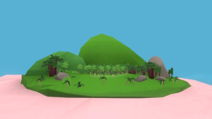 Sea Mammoth Island 3D Model