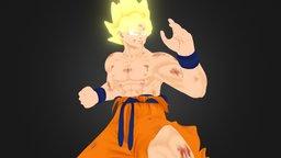 Goku SSJ 3D Model
