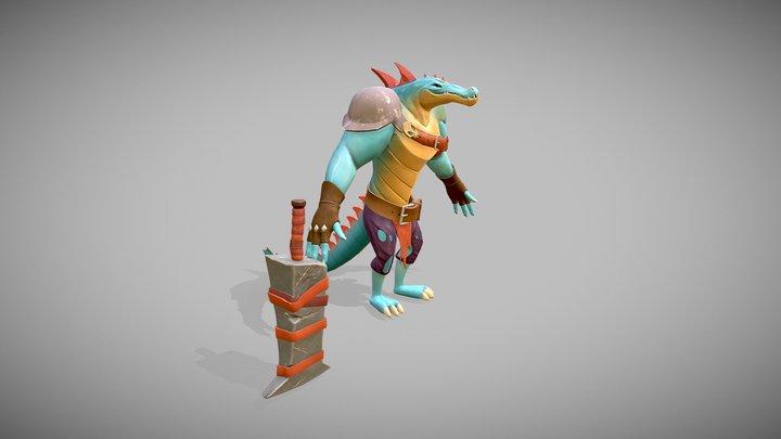 Mercenary Lizard - Concept by Federico Meloni 3D Model