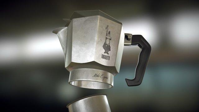 Italian Coffee Machine 3D Model
