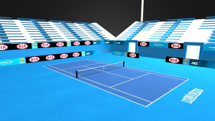 Australian Open Tennis Court 3D Model