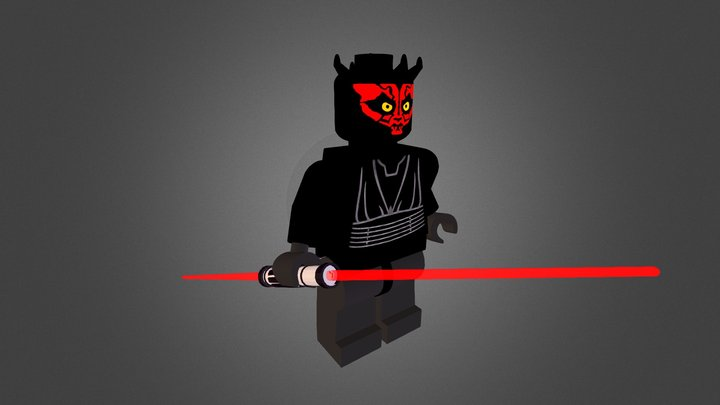 DARTH MAUL LEGO 3D Model