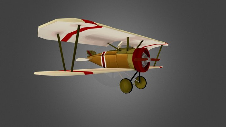 Denis Usudur WW I stylized Plane 3D Model