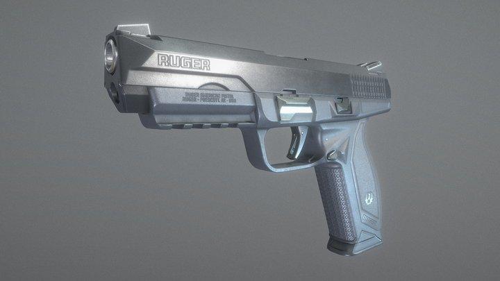 Ruger American Pistol Duty 45 acp 3D Model