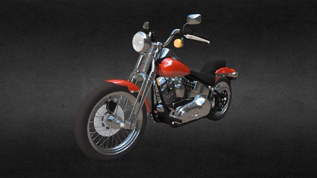 Harley Davidson Springer Softail 3D Model