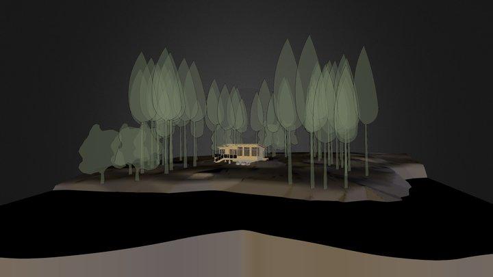 Austin Rockwell Cabin 3D Model