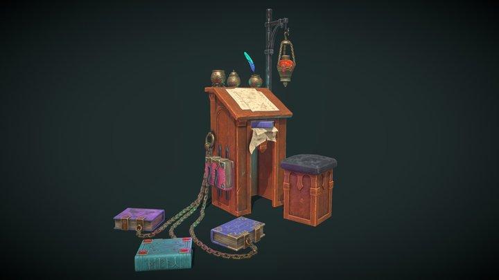 Wizardry Desk 3D Model
