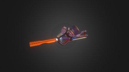 Heavy Machine Gun Low Poly 3D Model