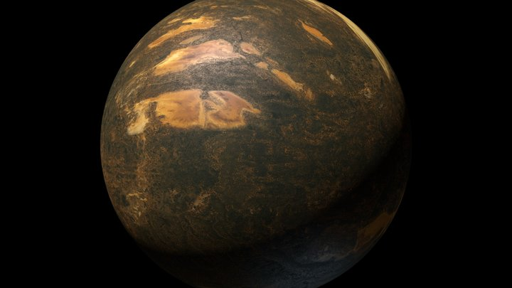Planet Beta Hydri  : Free Sample 3D Model