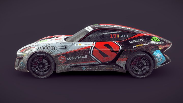 X-TAON: Rally Car #XTAONartcarcontest 3D Model