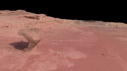 """Site 2 and """"The Mushroom"""", Timna Park, Israel 3D Model"""