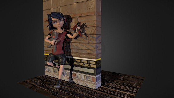 Overwatch Style Kid Character - Final Pose 3D Model