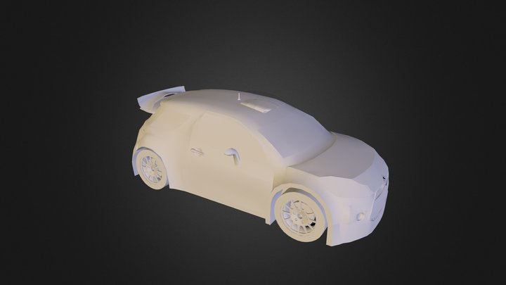 Citroen DS3 WRC 2000 Clay 3D Model