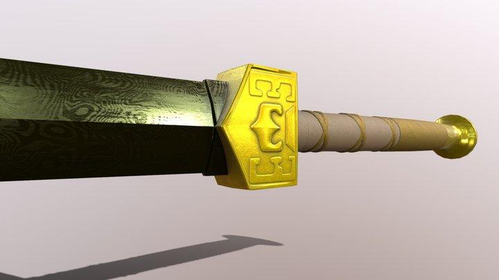 Sokka's Space Sword 3D Model