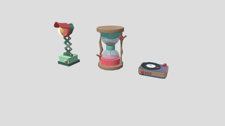 HomeWorkLowPoly 3D Model