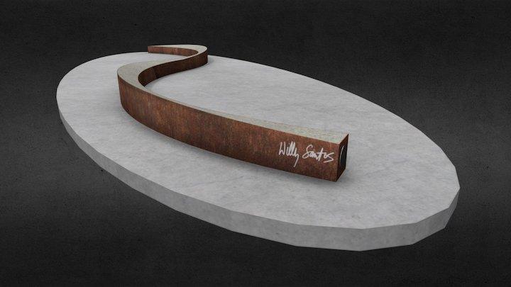 "Willy Santos's ""Coaster"" 3D Model"