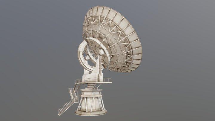 Large Array Radio Telescope PBR 3D Model